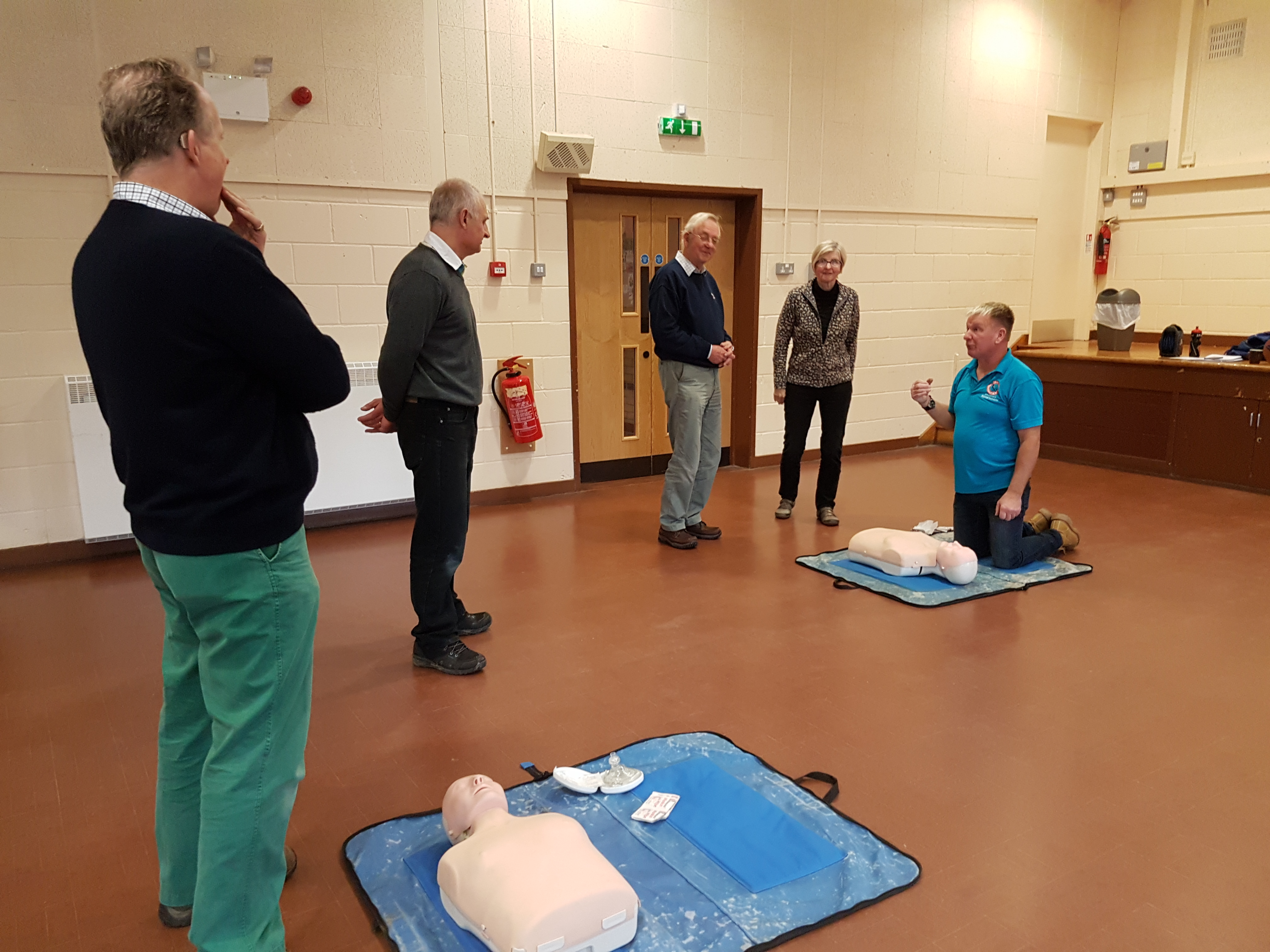 CPR demonstration - Oxygen Admin and First Aid course Nov 2018