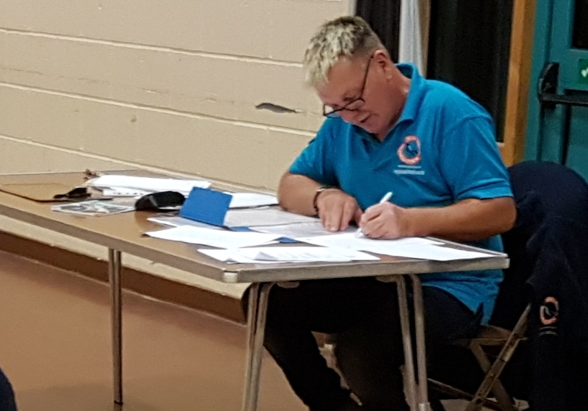 Stefan's paperwork for Oxygen Admin and First Aid course Nov 2018